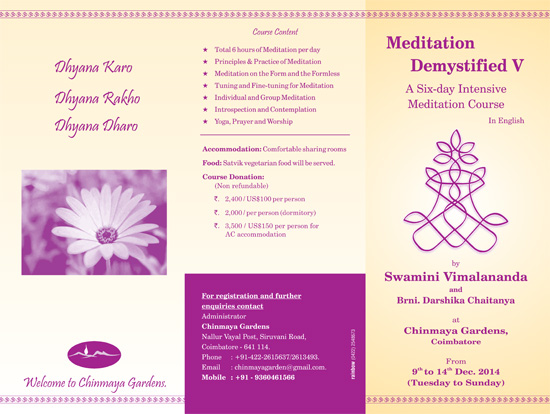 Meditation Demystified - Camp V 2014