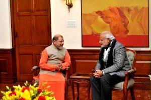 Pujya Guruji meets Honourable Prime Minister, Shri Narendra Modiji