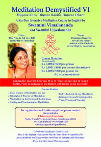 Chinmaya Meditation