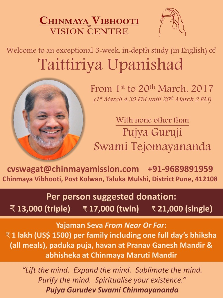 Taitriya upanishad event