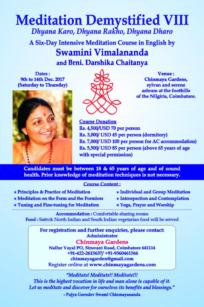 Meditation Demystified - Camp VIII _ 2017 Poster DP