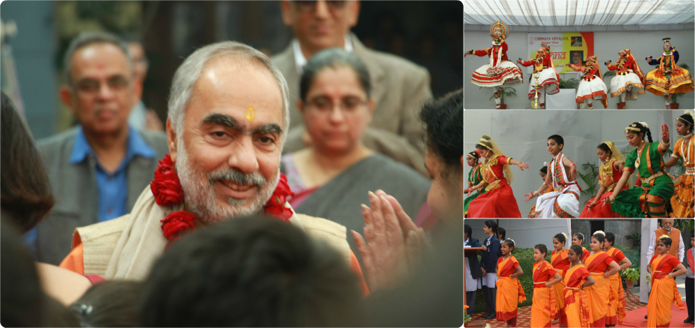 Mukhya Swamiji at Chinmaya Vidyalaya, New Delhi.