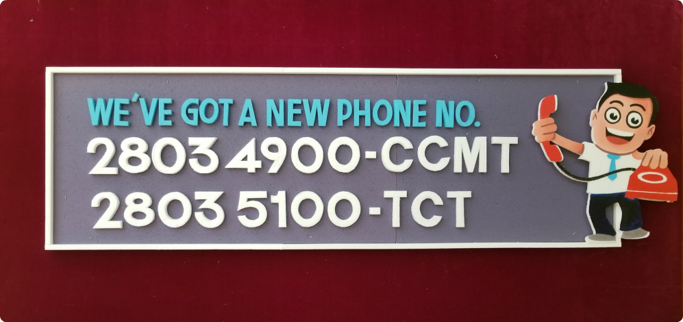 Our Phone Numbers have Changed