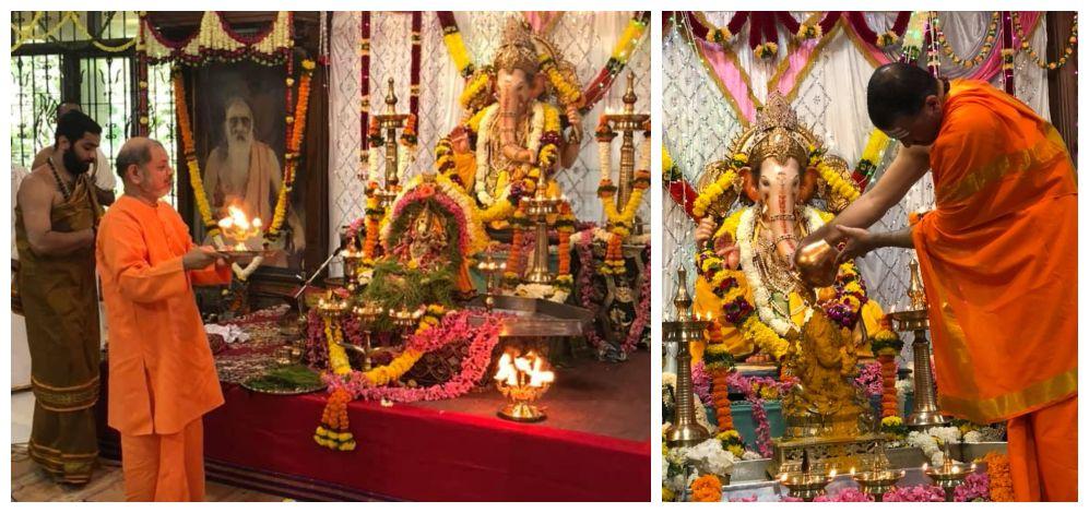 Ganesha Chaturthi at Sandeepany Sadanalaya.