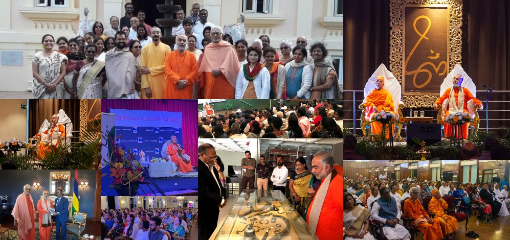 Swami Swaroopanandaji's Visit to Mauritius and Reunion Island